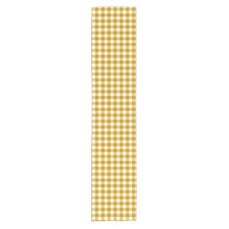 Trendy Yellow And White Gingham Check Pattern