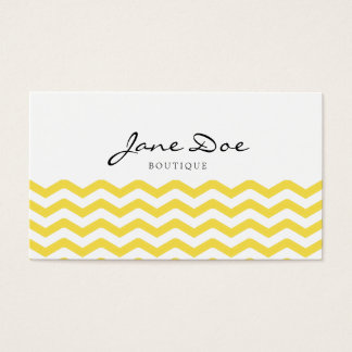 Trendy Yellow Chevron Business Card