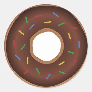 Trendy yummy chocolate donut sticker