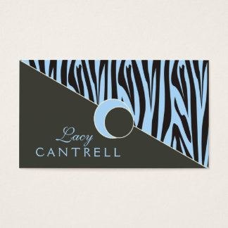 Trendy Zebra Biz Cards