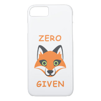 Trendy Zero Fox Given phrase Emoji Cartoon iPhone 8/7 Case