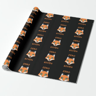 Trendy Zero Fox Given phrase Emoji Cartoon Wrapping Paper
