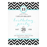 Trendy Zigzag Chevron Birthday Party Invitation