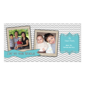 Trendy Zigzag Holiday Photo Card