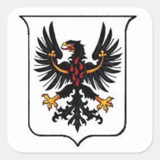 Trento Coat of Arms Square Sticker