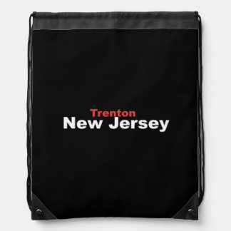 Trenton, New Jersey Drawstring Backpack