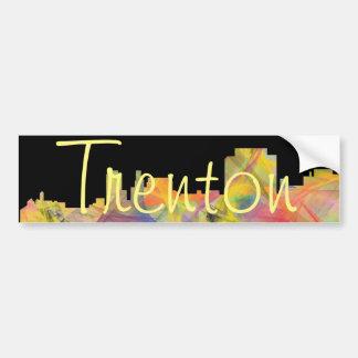 TRENTON, NEW JERSEY SKYLINE WB1 BUMPER STICKER