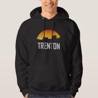 Trenton New Jersey Sunset Skyline Hoodie