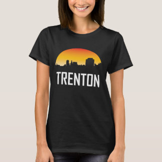 Trenton New Jersey Sunset Skyline T-Shirt