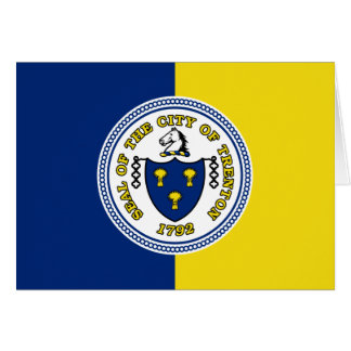 Trenton, New Jersey, United States flag Greeting Cards