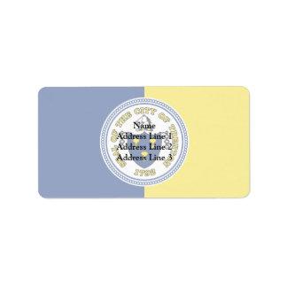 Trenton, New Jersey, United States flag Address Label