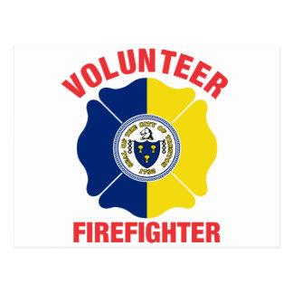 Trenton, NJ Flag Volunteer Firefighter Cross Postcards