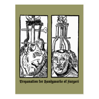 Trepanation For Handywarke of Surgeri Postcard
