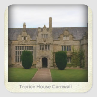 Trerice House Cornwall England Poldark Location Square Sticker