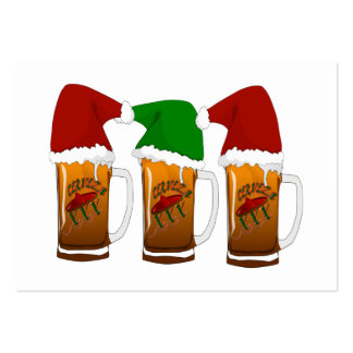 Tres Amigos Christmas Cerveza Pack Of Chubby Business Cards