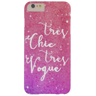 Tres Chic Tres Vogue | Calligraphy Glitter Pink Barely There iPhone 6 Plus Case