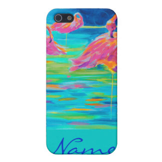 Tres Flamingos iphone case Cover For iPhone 5