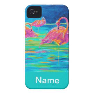 Tres Flamingos iphone case iPhone 4 Case