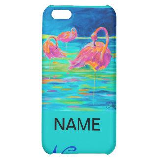Tres Flamingos iphone case Cover For iPhone 5C