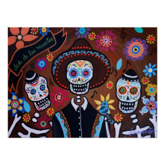 TRES MARIACHIS DAY OF THE DEAD POSTERS