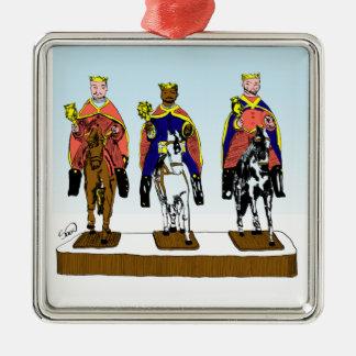 Tres Reyes Magos/ Three Wise Men Metal Ornament