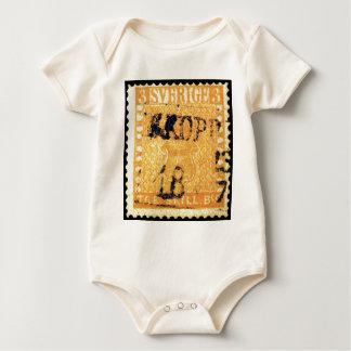 Treskilling Yellow of Sweden Sverige 3 Cent Stamp Baby Bodysuit
