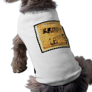Treskilling Yellow of Sweden Sverige 3 Cent Stamp Sleeveless Dog Shirt
