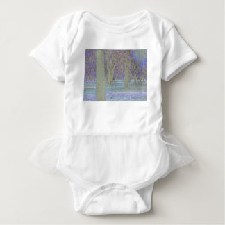 Tress in a park baby bodysuit
