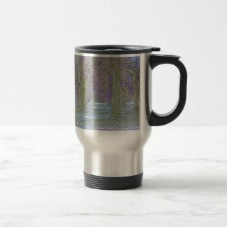 Tress in a park travel mug
