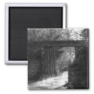 Trestle Bridge Square Magnet