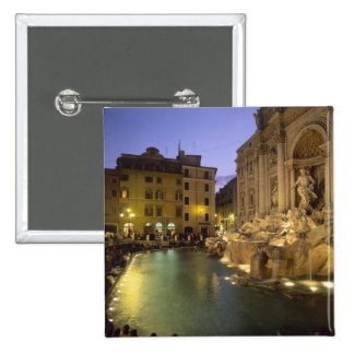 Trevi Fountain at night, Rome, Lazio, Italy 15 Cm Square Badge