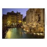 Trevi Fountain at night, Rome, Lazio, Italy Card