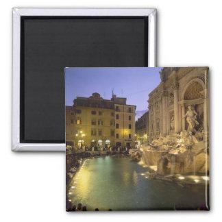 Trevi Fountain at night Rome Lazio Italy Magnets