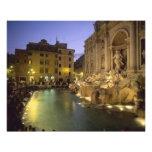 Trevi Fountain at night, Rome, Lazio, Italy Art Photo