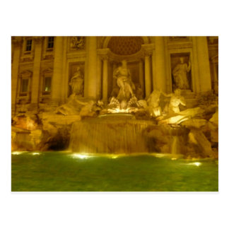 Trevi Fountain evening Postcard