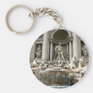 Trevi Fountain (Fontana di Trevi) -Rome Basic Round Button Key Ring