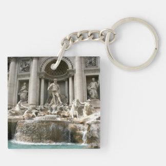 Trevi Fountain (Fontana di Trevi) -Rome Double-Sided Square Acrylic Key Ring