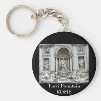 Trevi Fountain in Rome, Italy Basic Round Button Key Ring