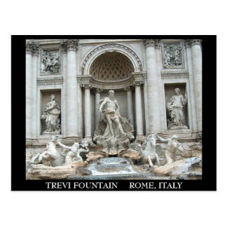 Trevi Fountain in Rome Italy Postcards