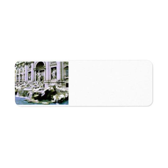 Trevi Fountain Return Address Label