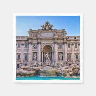 Trevi fountain, Roma, Italy Disposable Serviette