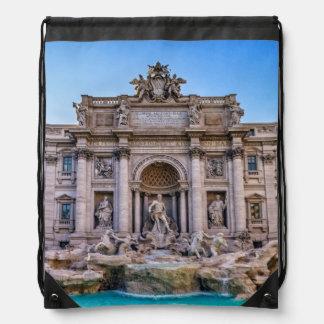 Trevi fountain, Roma, Italy Drawstring Bag