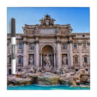 Trevi fountain, Roma, Italy Dry Erase Board