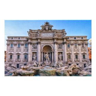 Trevi fountain, Roma, Italy Personalized Stationery