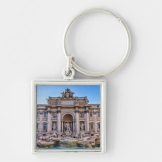 Trevi fountain, Roma, Italy Silver-Colored Square Key Ring