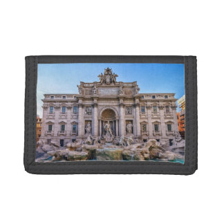 Trevi fountain, Roma, Italy Trifold Wallets