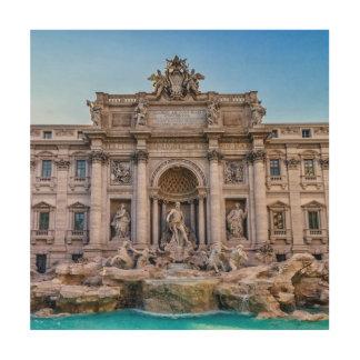 Trevi fountain, Roma, Italy Wood Print