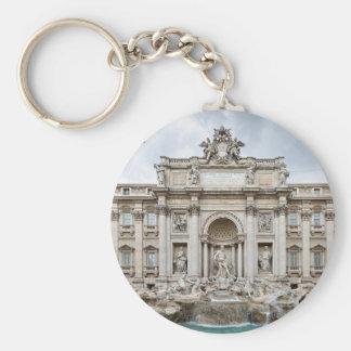 Trevi-Fountain,-Rome,-Angie.JPG Basic Round Button Key Ring
