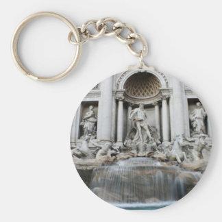 Trevi Fountain Rome Basic Round Button Key Ring