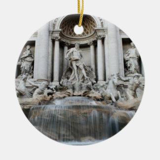 Trevi Fountain Rome Ceramic Ornament